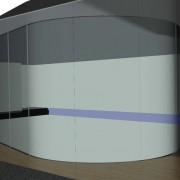 Isometrie Absturzsicherung in Glas Raumhoch